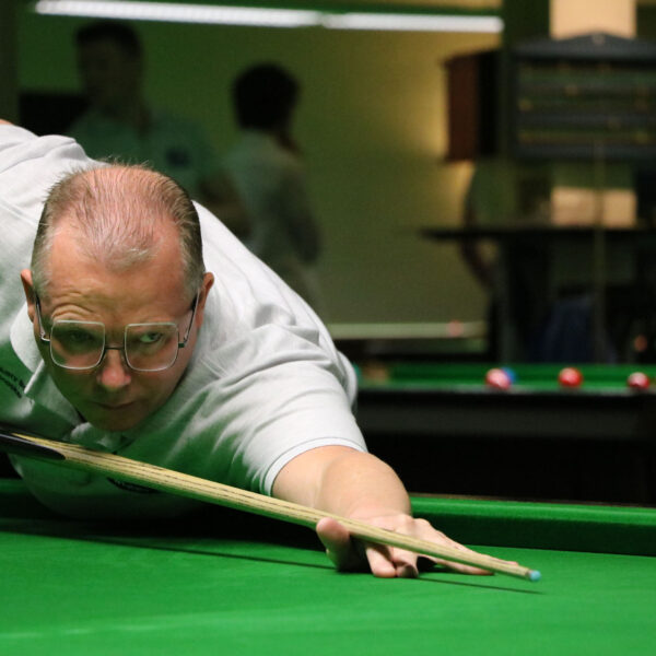 David Baker playing snooker